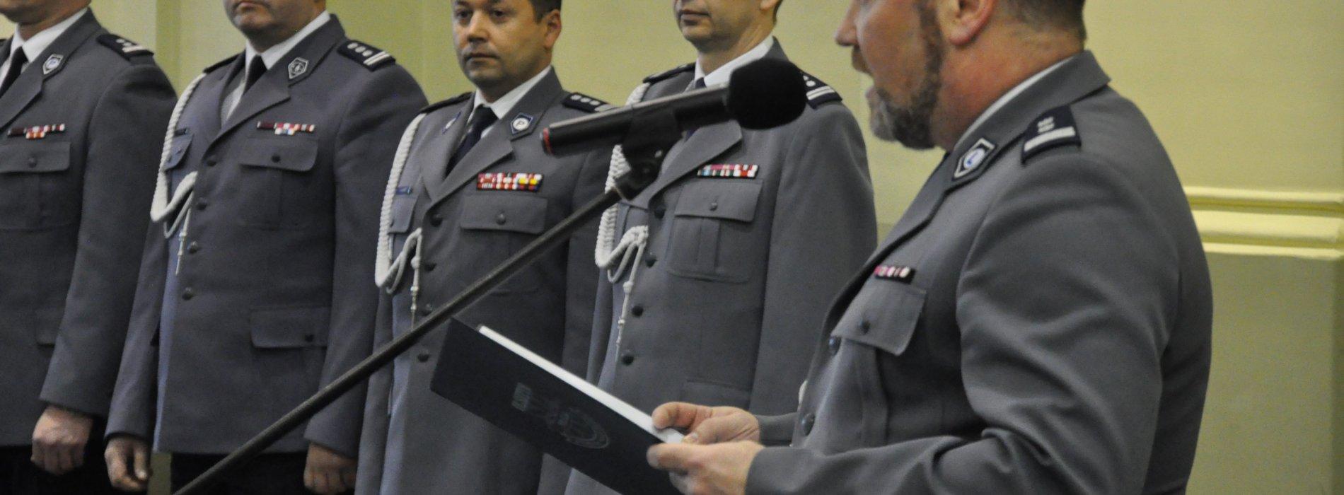 POŻEGNANIE I ZASTĘPCY KOMENDANTA WOJEWÓDZKIEGO POLICJI W OLSZTYNIE