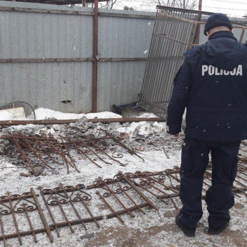 Policjanci zatrzymali dwóch nietrzeźwych, którzy niszczyli cudze mienie