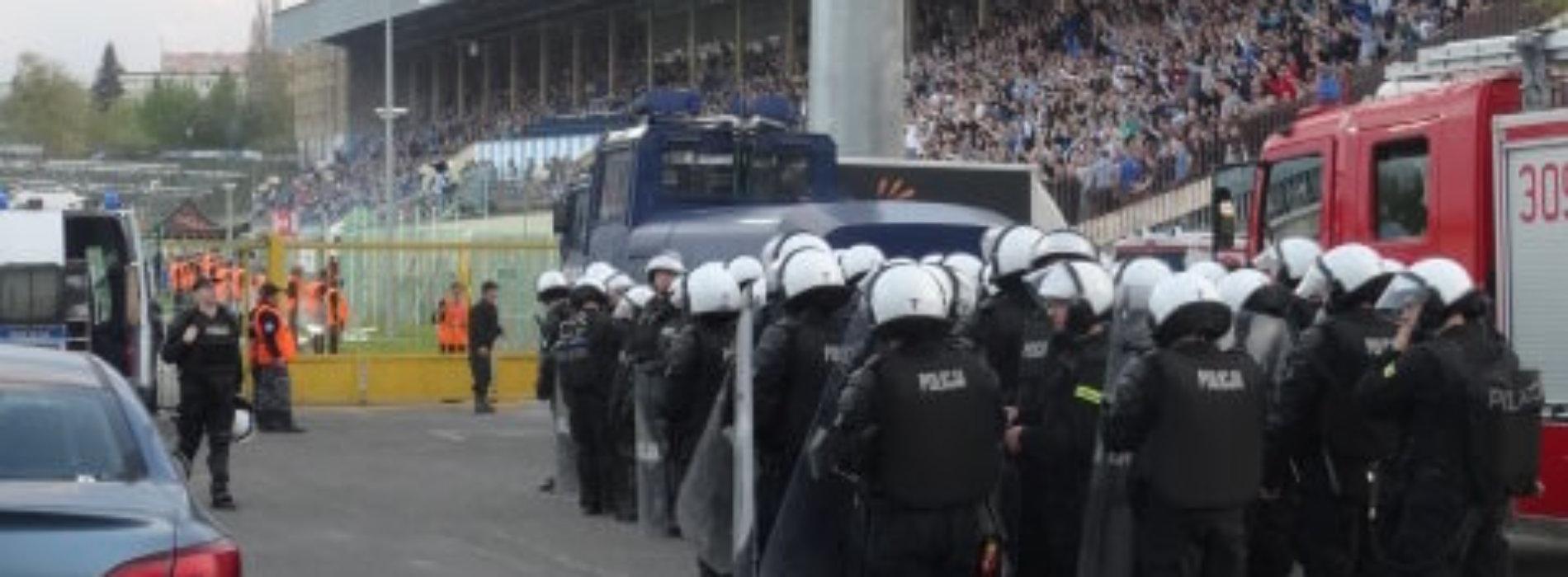 POLICYJNE ZABEZPIECZENIE MECZU STOMIL OLSZTYN Z GÓRNIKIEM ZABRZE